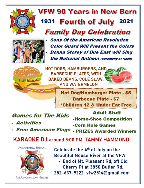 July 4th, Independence Day & VFW Family Day