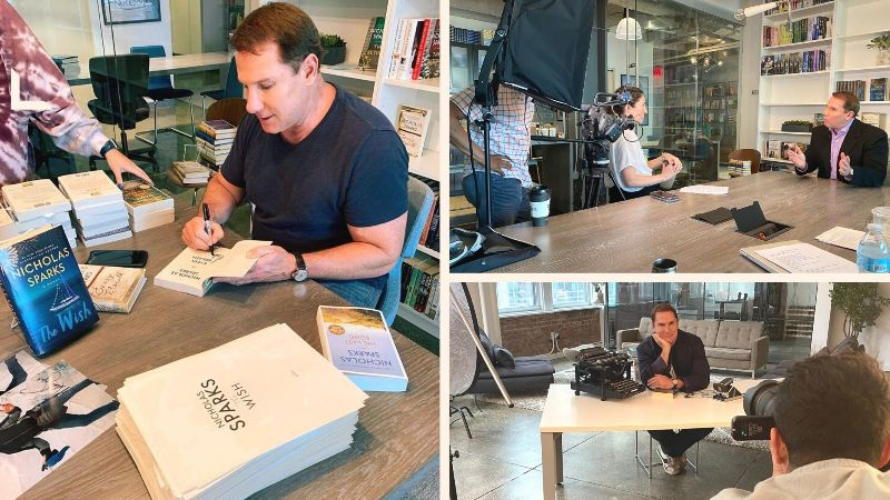 Nicholas Sparks THE WISH Book Signing!